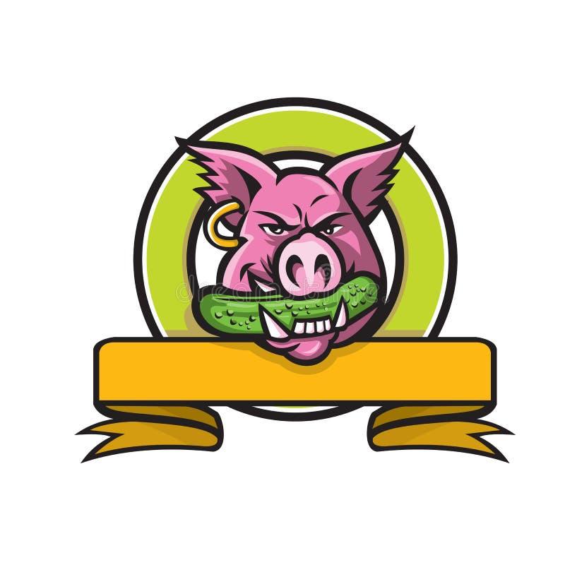 Mascota penetrante del círculo del pepinillo del jabalí libre illustration