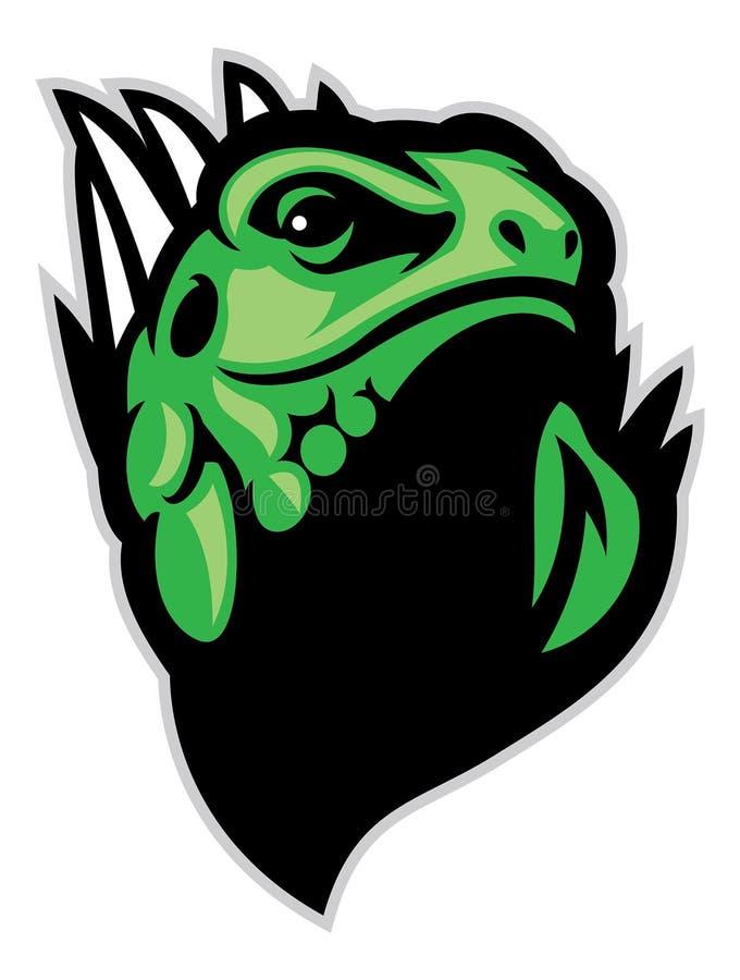 Mascota principal de la iguana libre illustration