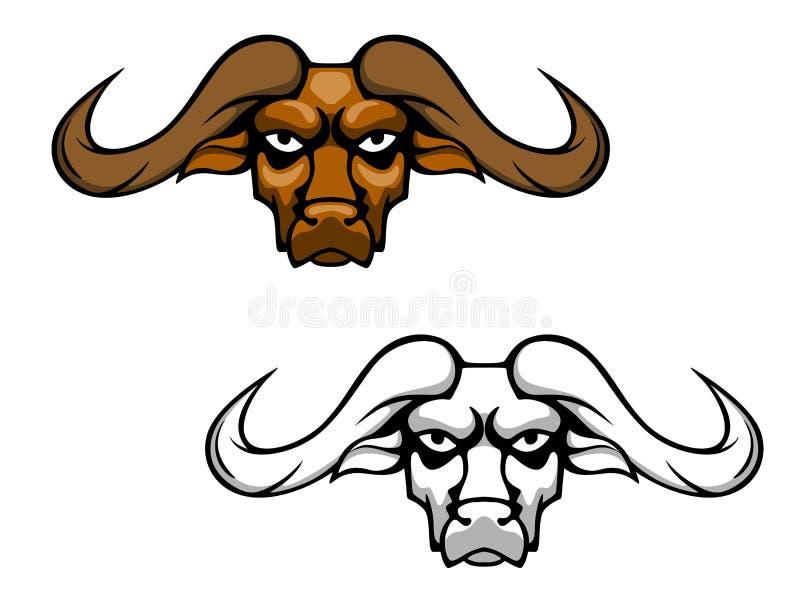 Mascota principal del búfalo stock de ilustración