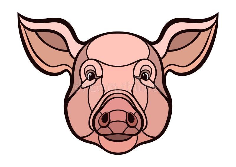 Mascota principal del cerdo libre illustration