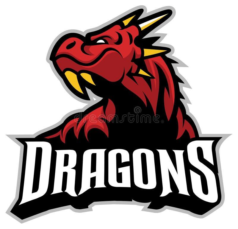 Mascota principal del dragón ilustración del vector