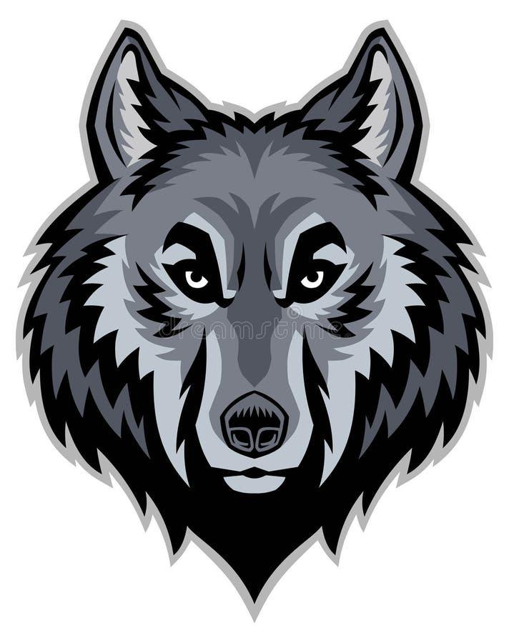 Mascota principal del lobo ilustración del vector