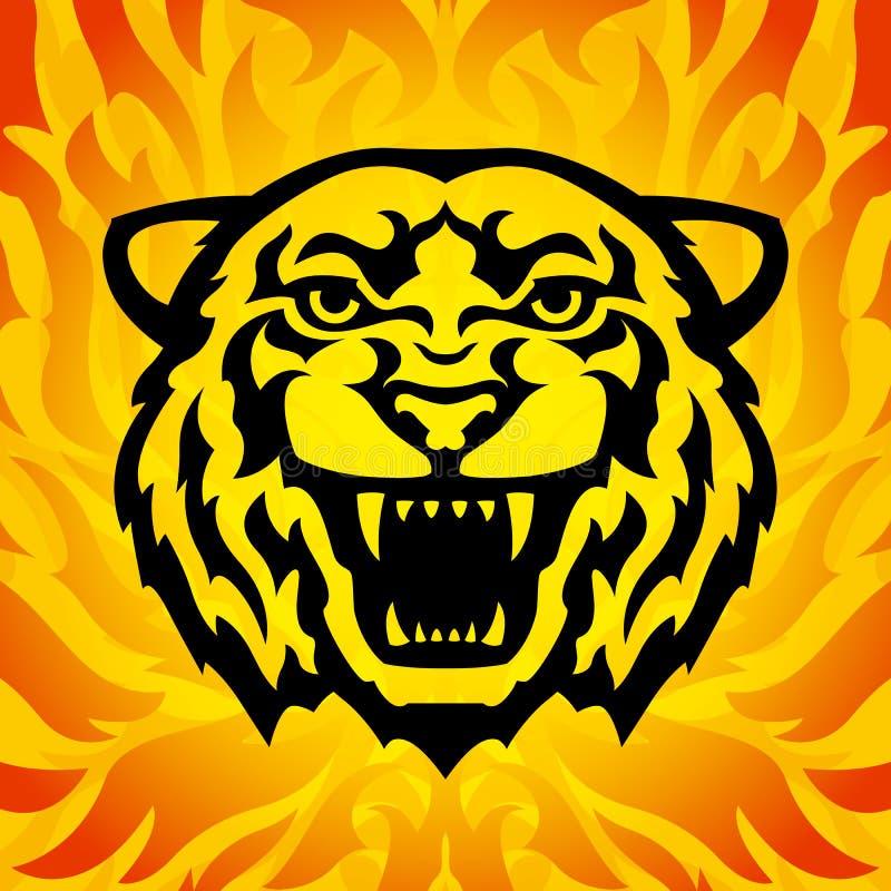 Mascota principal del tigre stock de ilustración
