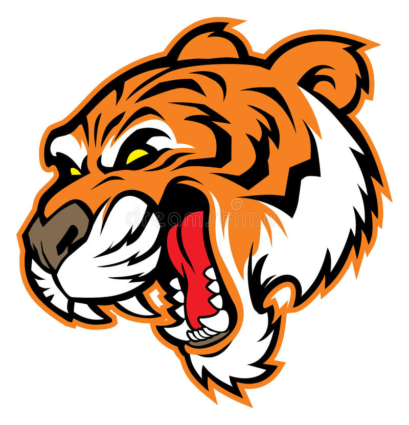 Mascota principal del tigre  ilustración del vector