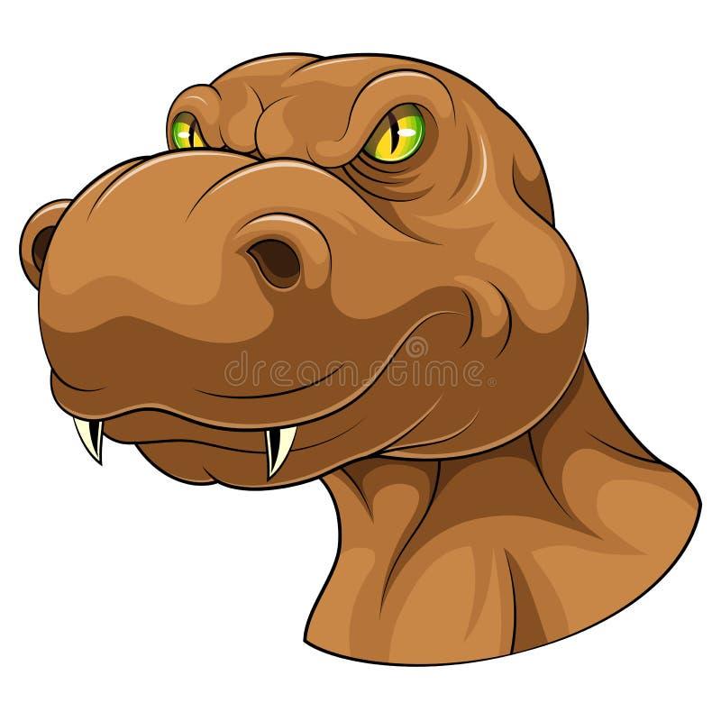 Mascota principal del tiranosaurio de Brown ilustración del vector