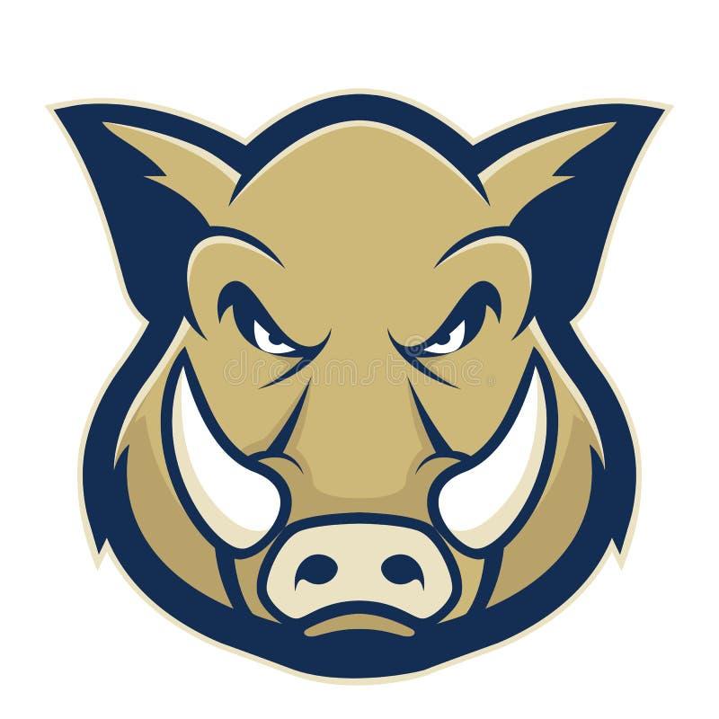 Mascota principal salvaje del cerdo o del verraco libre illustration