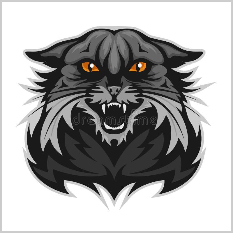 Mascota salvaje - equipo de deporte stock de ilustración