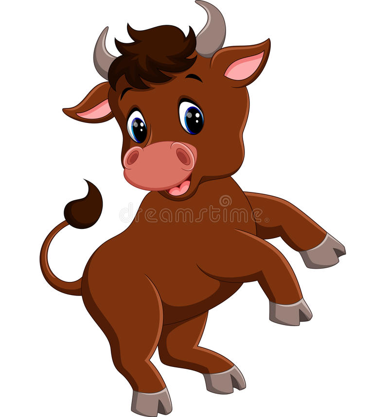Mascota sonriente del toro libre illustration