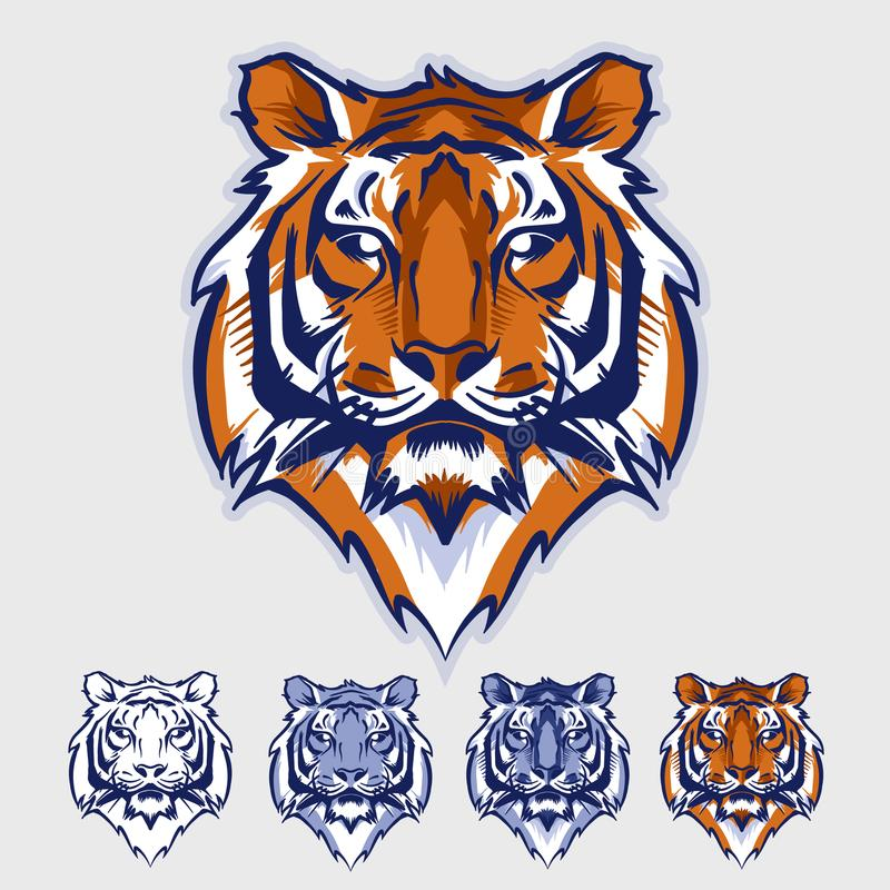 Mascota y logotipo de Tiger Head ilustración del vector