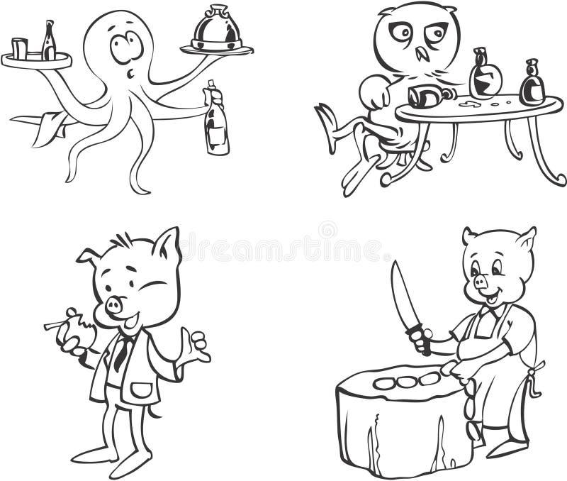 Mascote animais ilustração royalty free