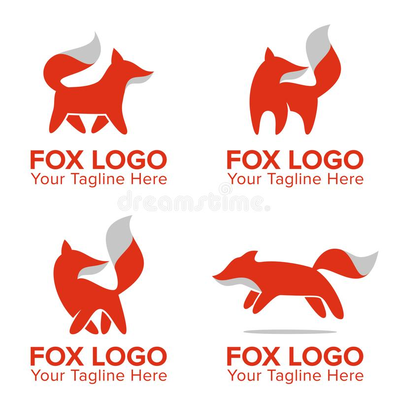 Mascote bonito ou Logo For Your Company do Fox ilustração royalty free
