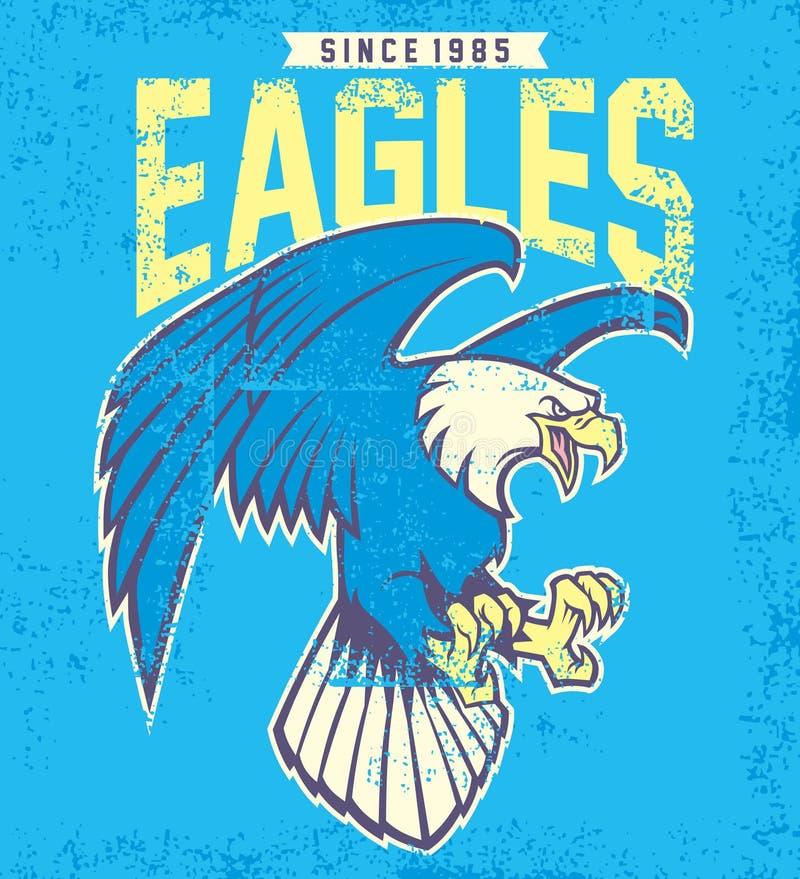 Mascote da águia do vintage ilustração royalty free