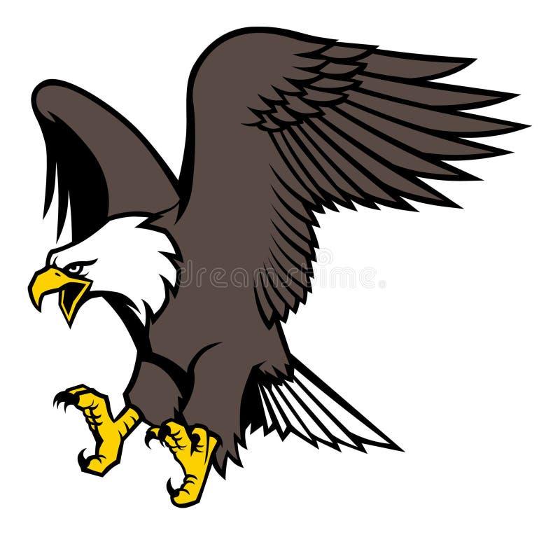 Mascote da águia do voo ilustração do vetor