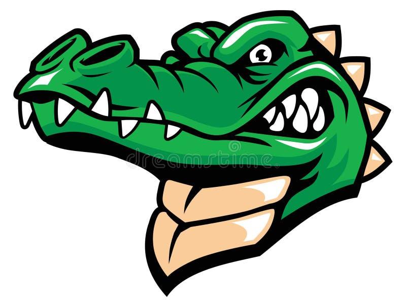 Mascote da cabeça de Crocodille ilustração do vetor