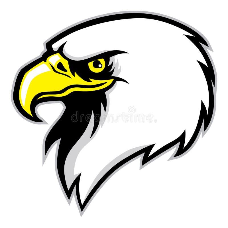 Mascote da cabeça de Eagle ilustração royalty free