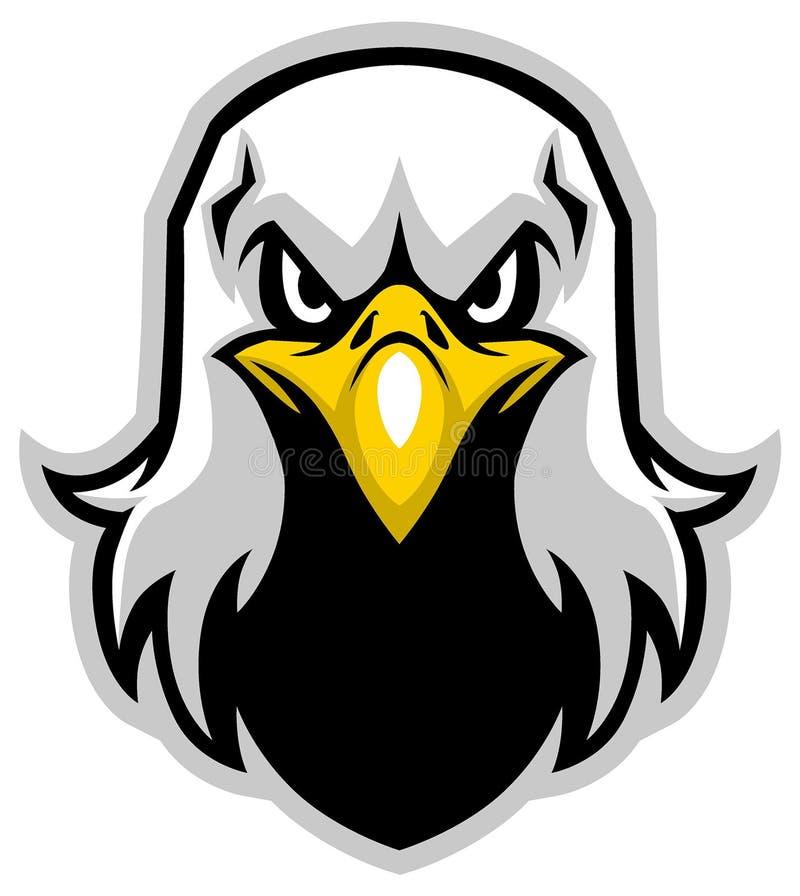 Mascote da cabeça de Eagle ilustração do vetor