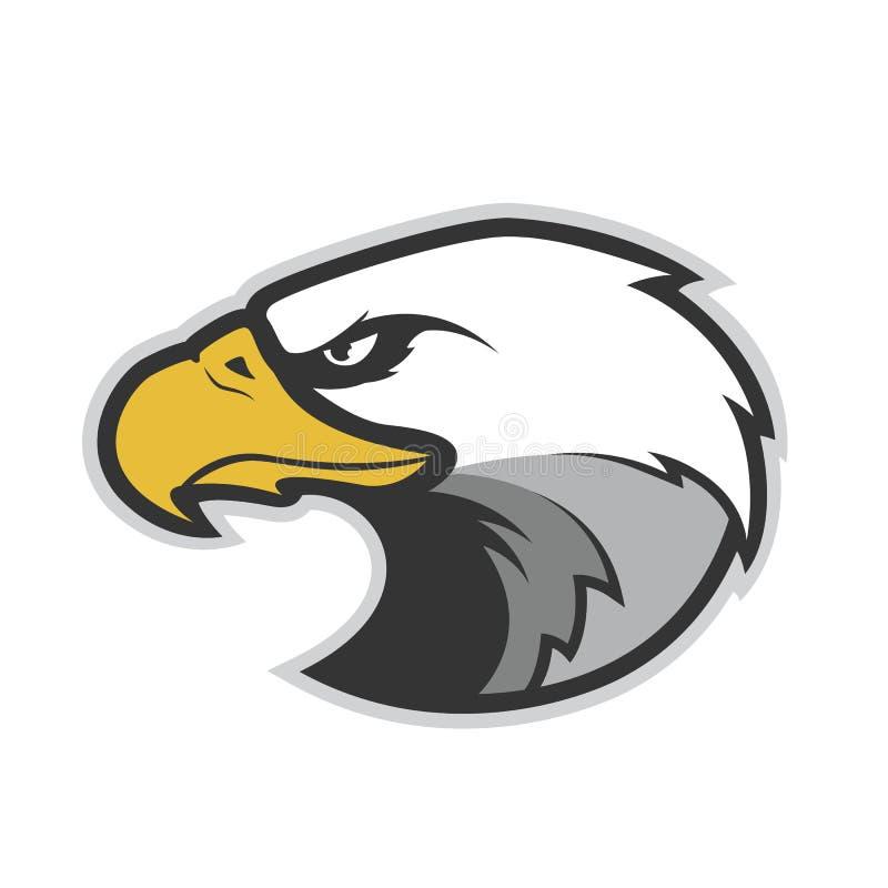 Mascote da cabeça de Eagle ilustração stock