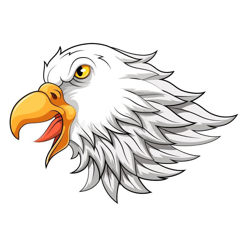Mascote da cabeça de Eagle nos desenhos animados ilustração stock