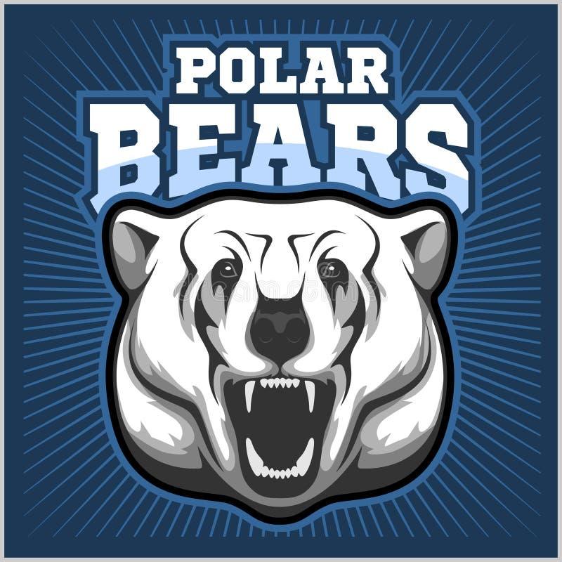 Mascote da cabeça do urso polar - ilustração do vetor ilustração royalty free