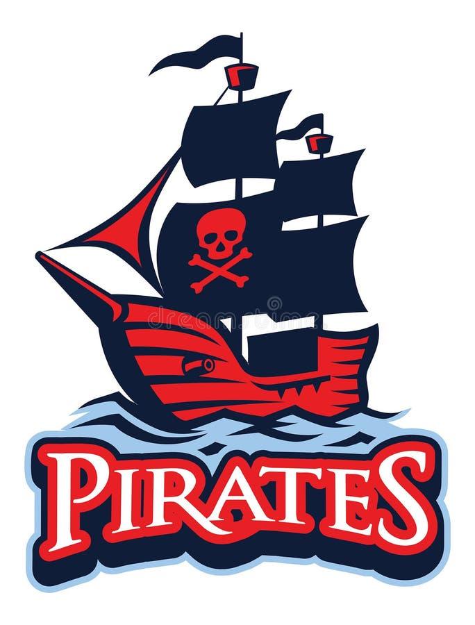 Mascote da embarcação do pirata ilustração do vetor