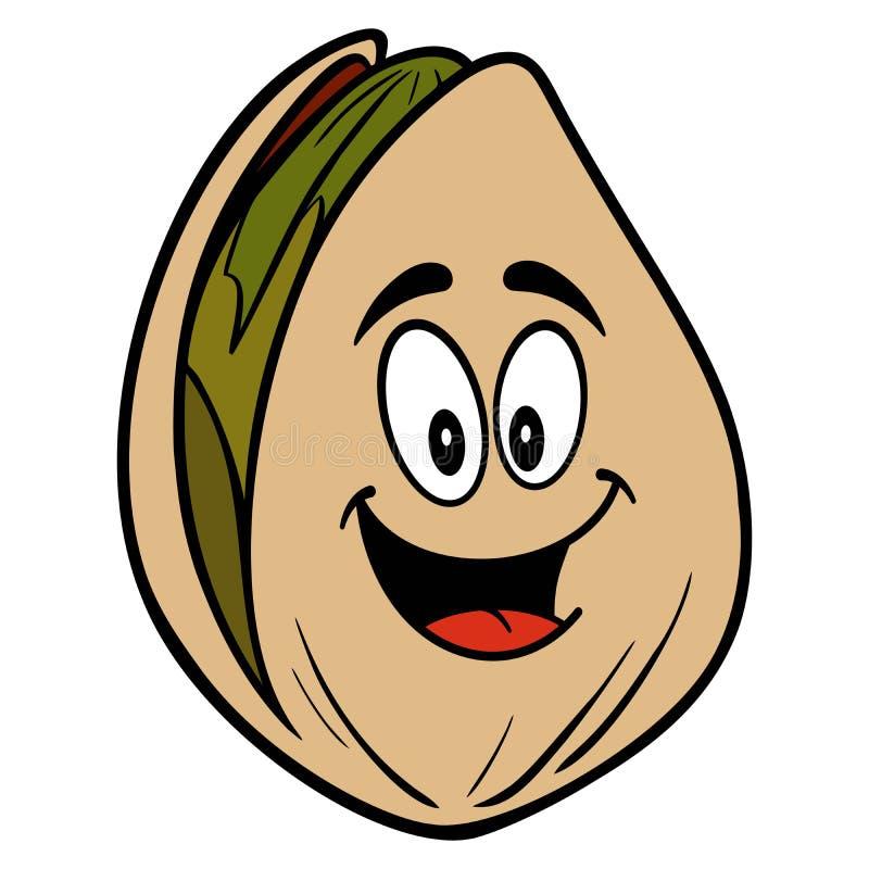 Mascote da porca de pistache ilustração royalty free