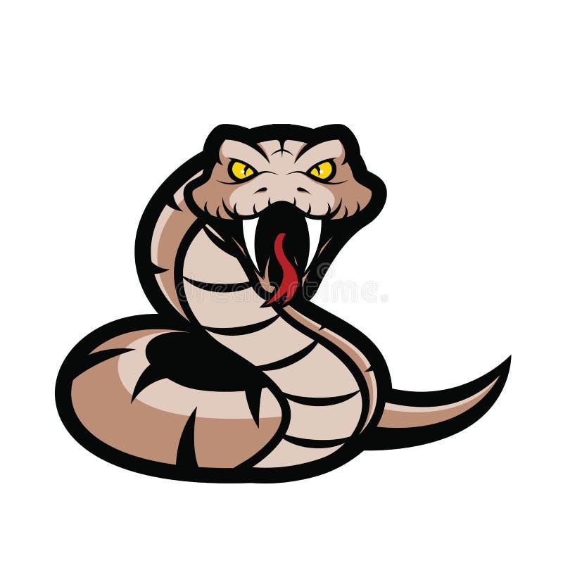 Mascote da serpente da víbora ilustração do vetor