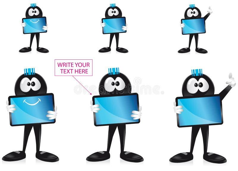 Mascote da tabuleta de Ipad ilustração do vetor