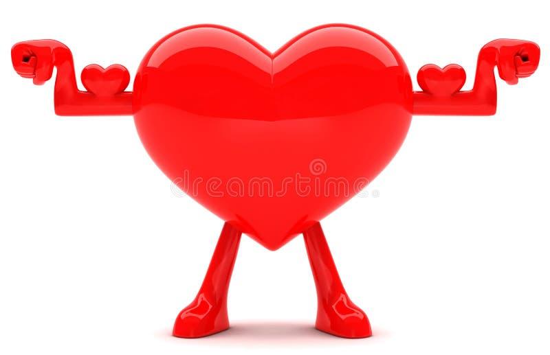 Mascote dada forma coração ilustração royalty free