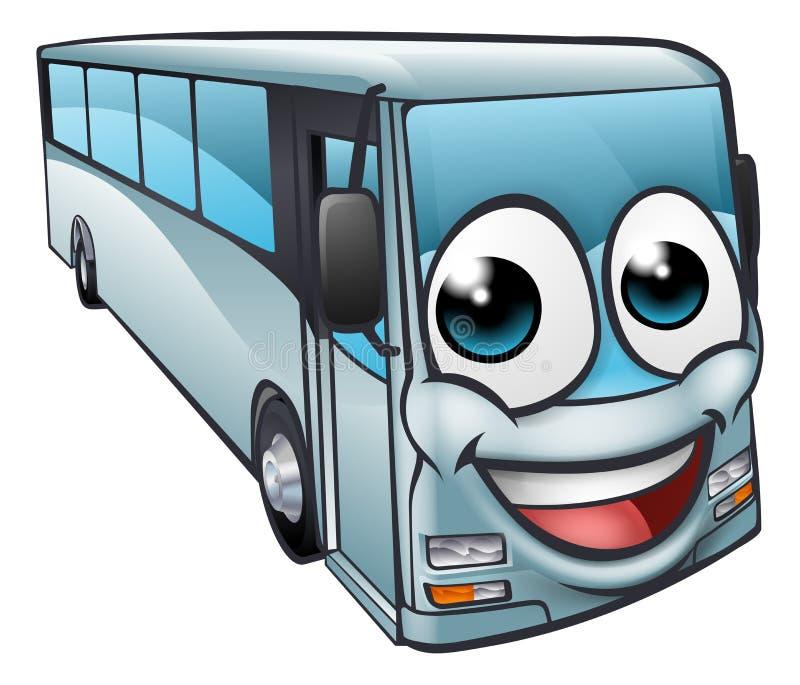 Mascote de Bus Cartoon Character do treinador ilustração royalty free