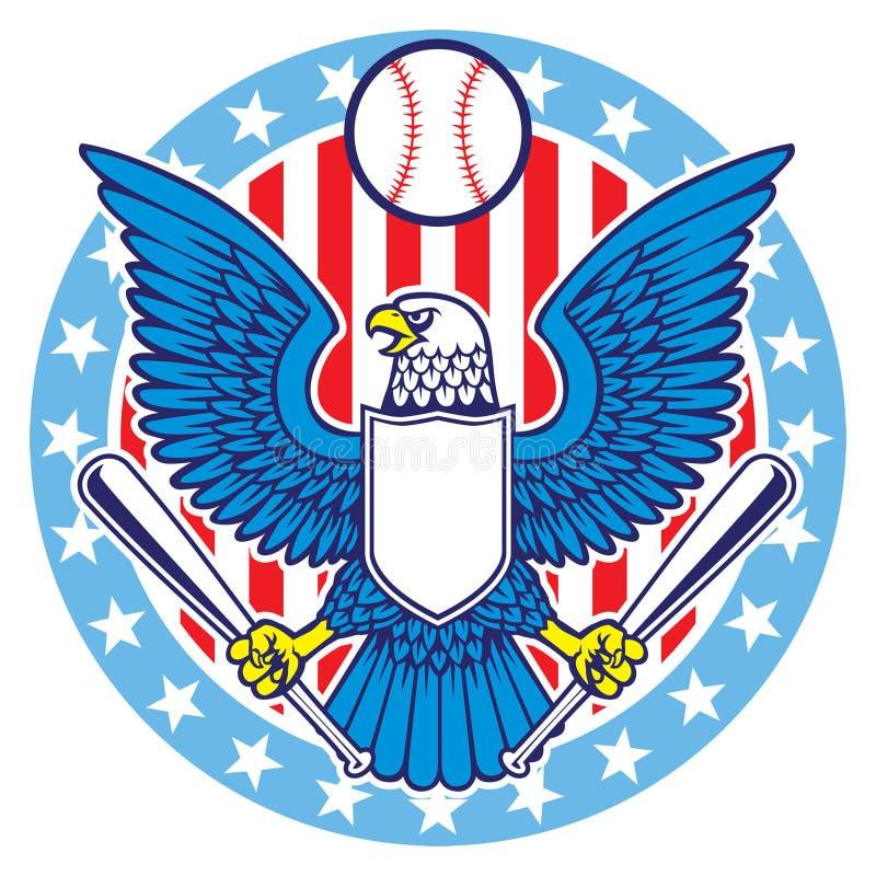 Mascote de Eagle do basebol ilustração royalty free