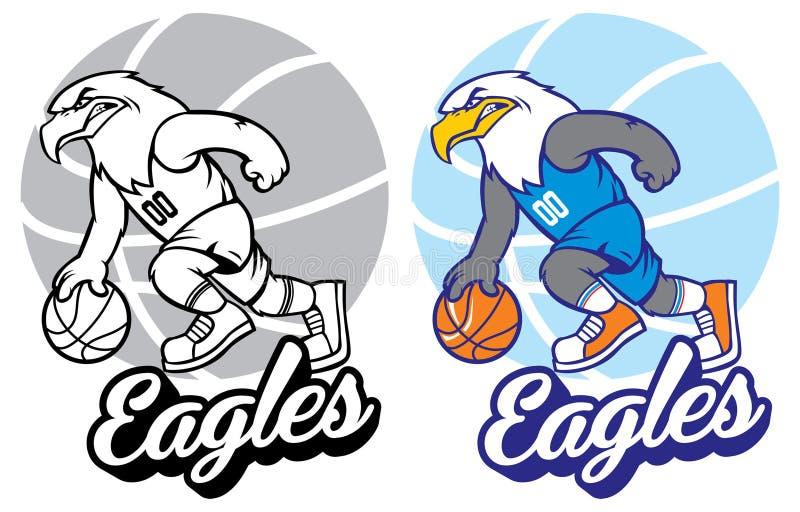 Mascote do basquetebol de Eagle ilustração do vetor
