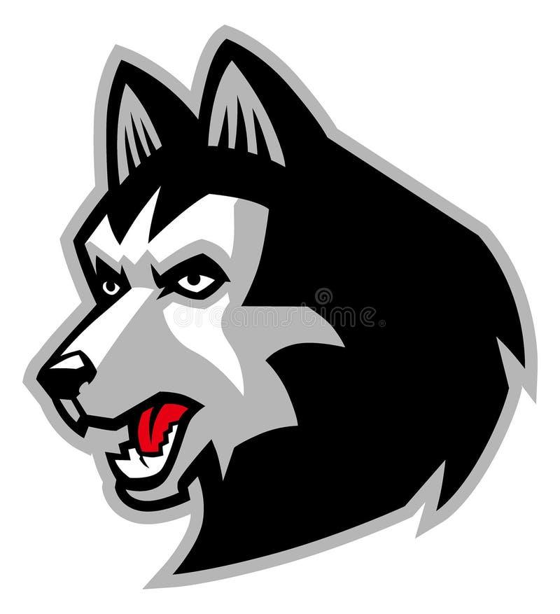 Mascote do cão do cão de puxar trenós Siberian ilustração royalty free