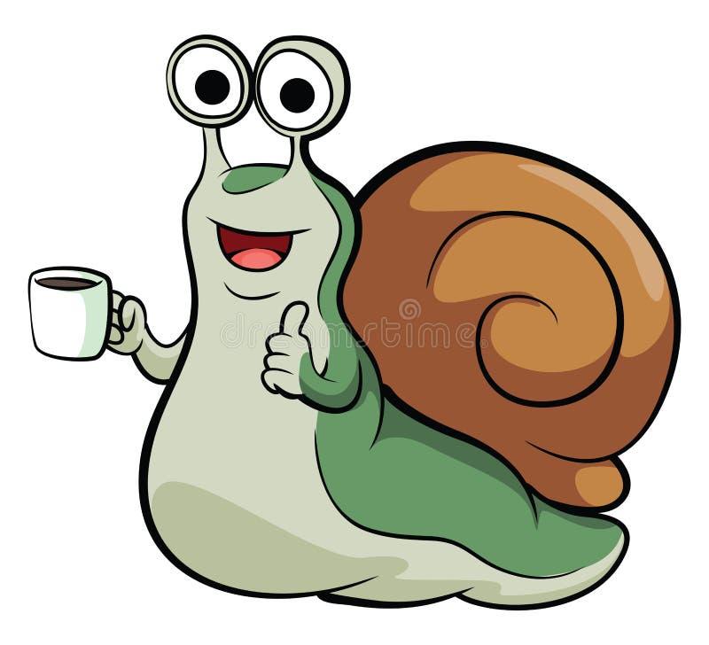 Mascote do caracol ilustração do vetor