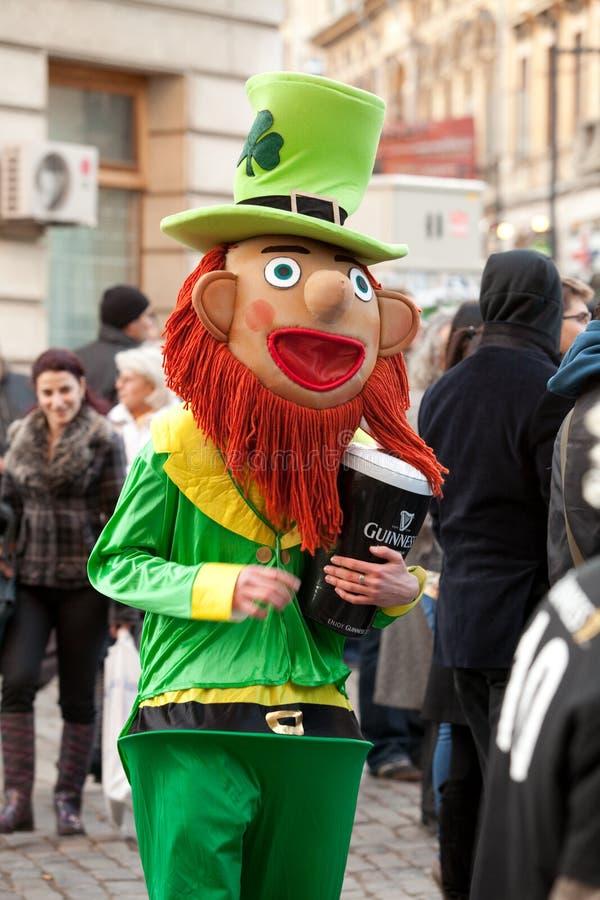 Mascote do dia de St Patrick fotografia de stock