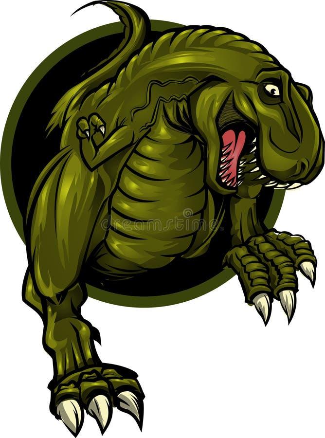 Mascote do dinossauro ilustração stock
