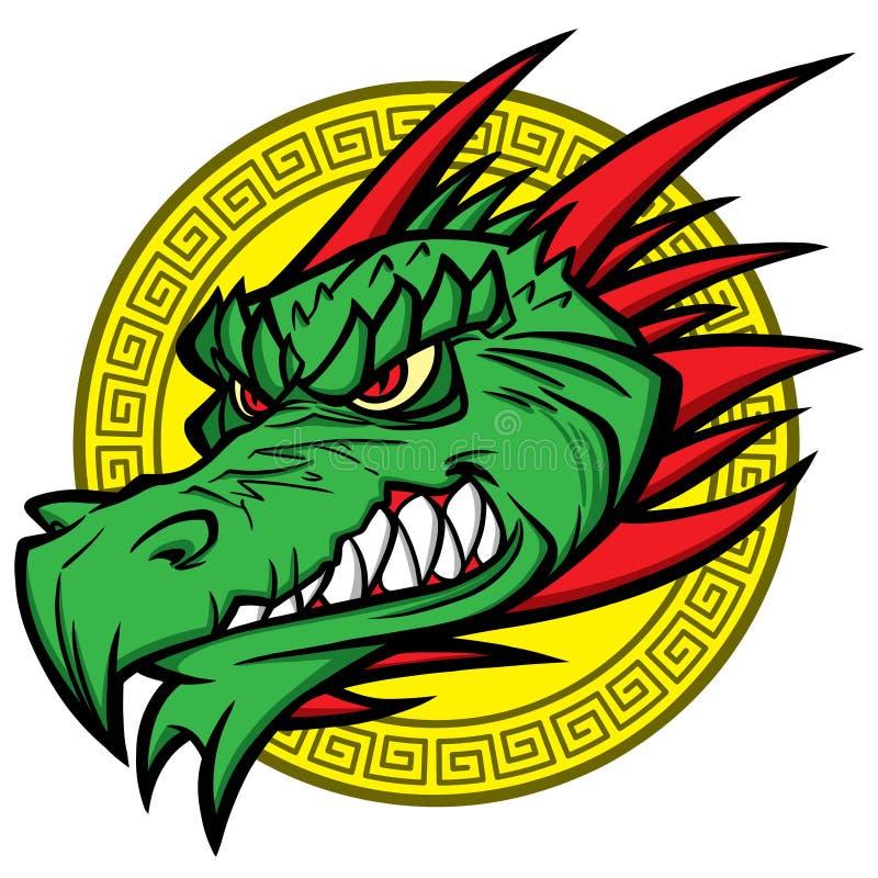 Mascote do dragão ilustração royalty free