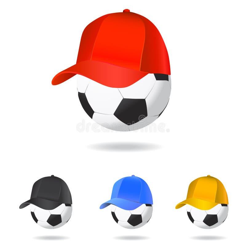 Mascote do futebol ilustração do vetor