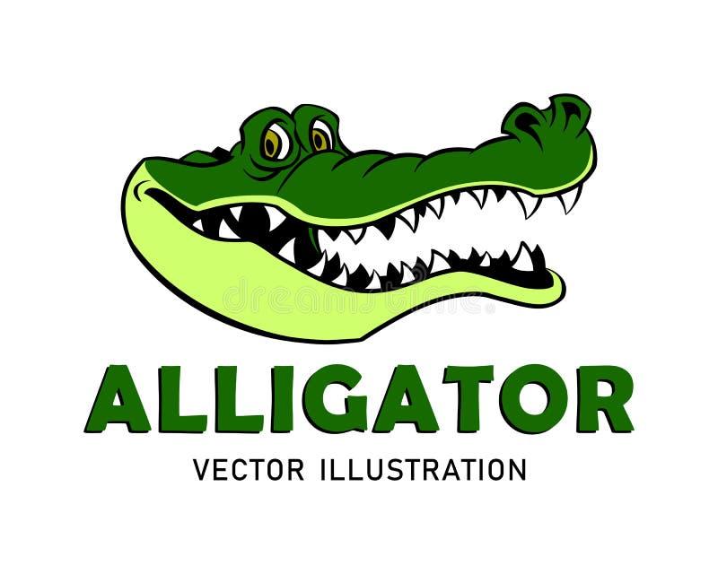 Mascote do jacaré dos desenhos animados imagem de stock royalty free