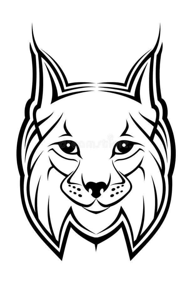 Mascote do lince ilustração royalty free