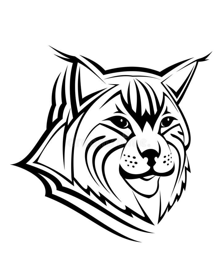 Mascote do lince ilustração stock