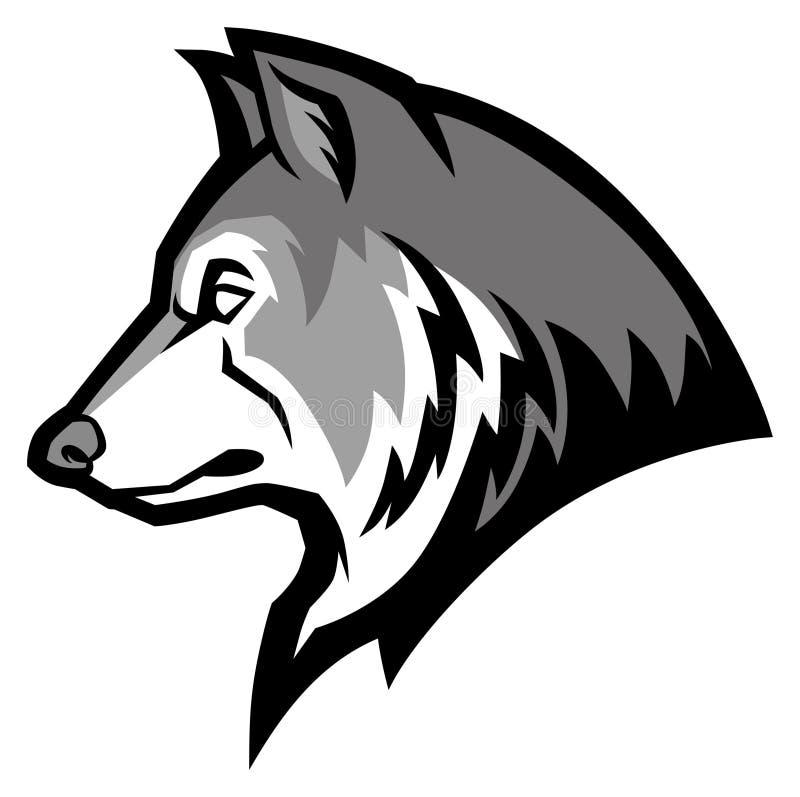 Mascote do lobo ilustração do vetor
