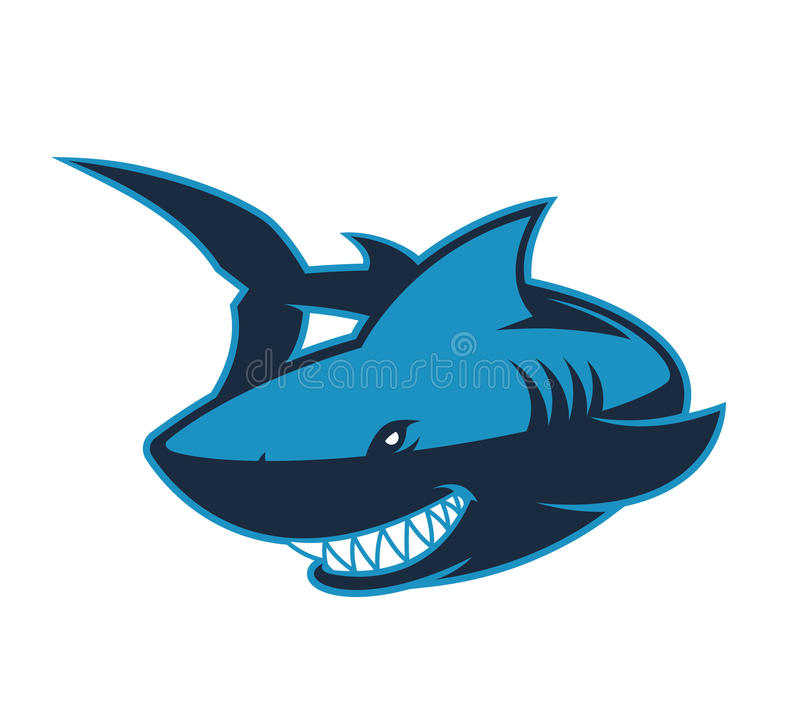 Mascote do logotipo do tubarão ilustração stock