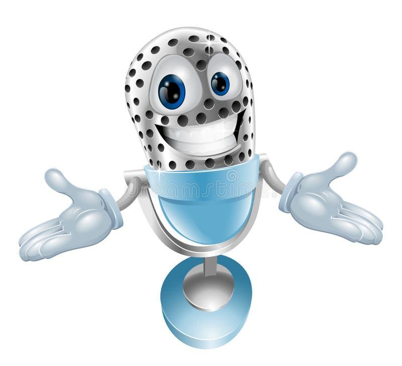 Mascote do microfone dos desenhos animados ilustração do vetor