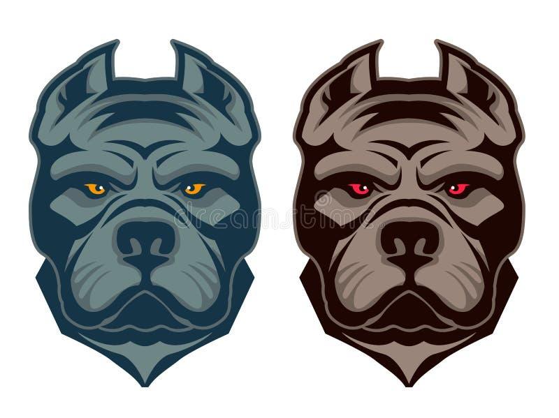 Mascote do pitbull ilustração stock