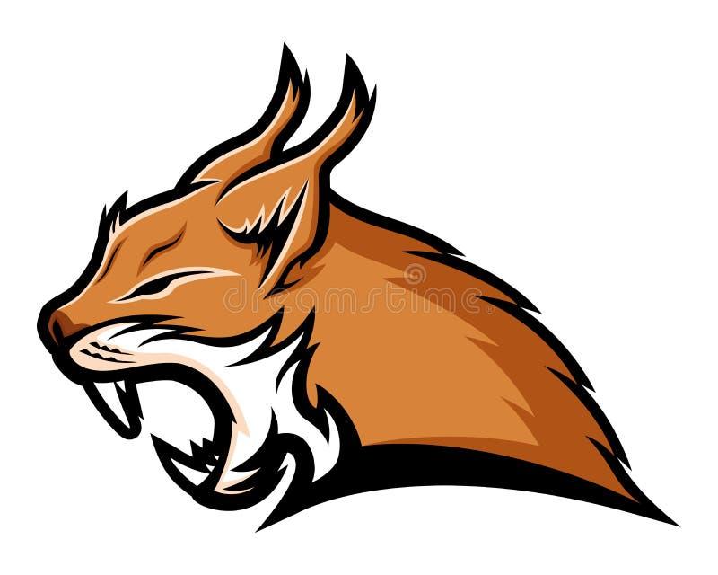 Mascote do sinal do lince ilustração do vetor