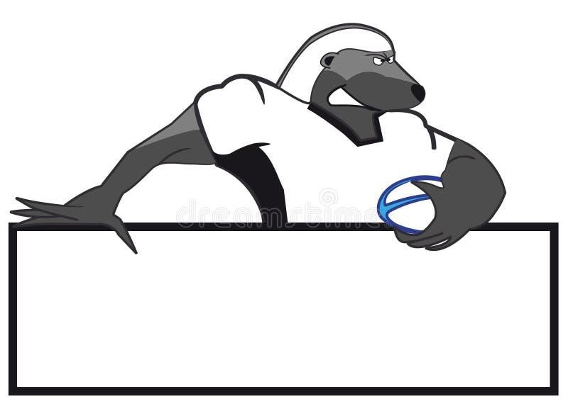 Mascote do texugo de mel ilustração royalty free