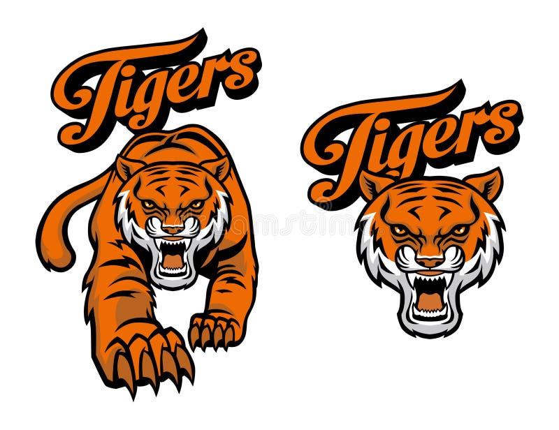 Mascote do tigre ilustração do vetor