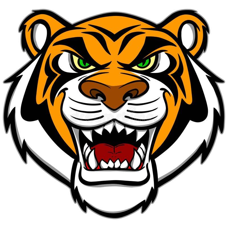 Mascote do tigre ilustração royalty free