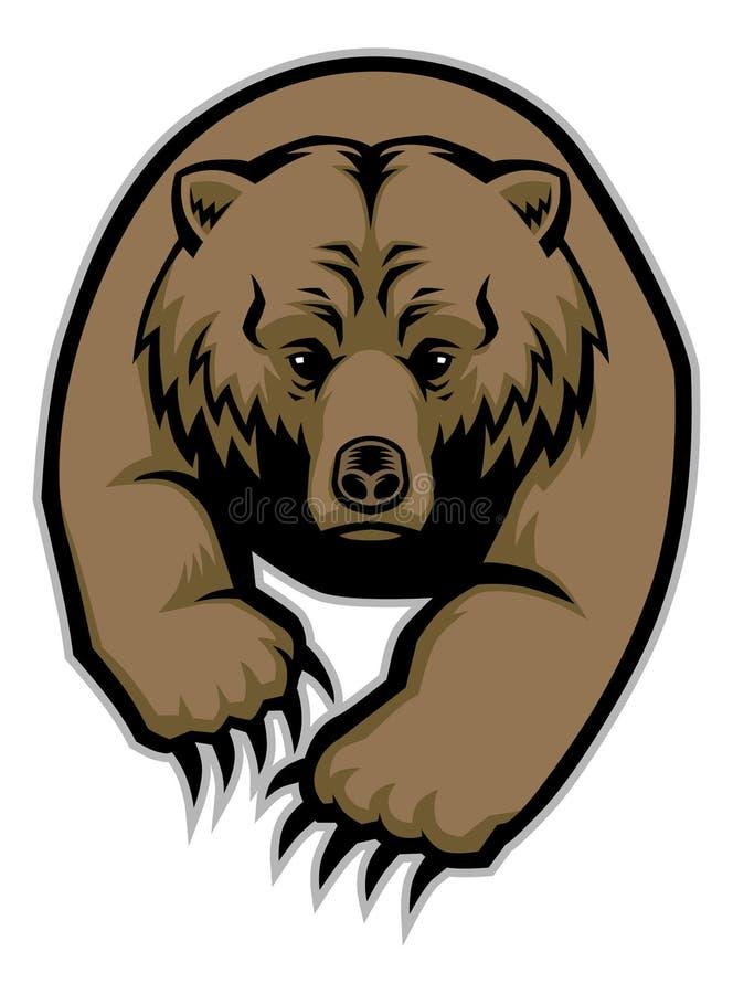 Mascote do urso ilustração stock