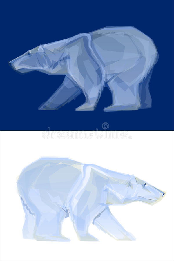 Mascote do urso polar ilustração do vetor